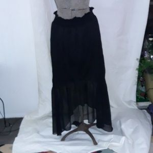 Ashley Stewart Black High low skirt